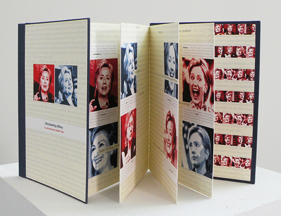 (Mis)labeling Hillary artist's book by Nava Atlas