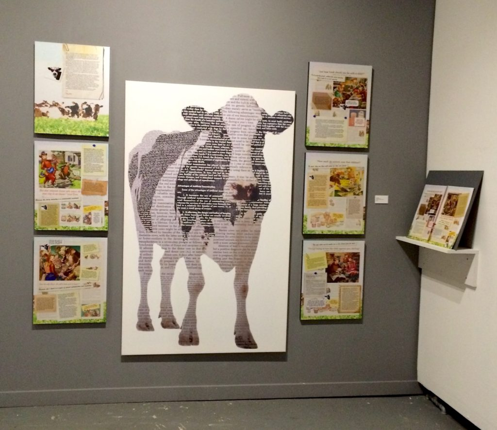 Deconstructing Elsie by Nava Atlas installation view: Animal Museum