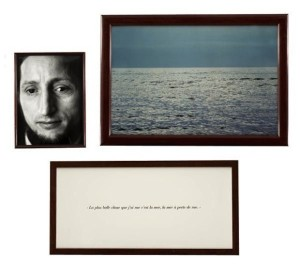 A portion of the installation, The Blind, by Sophie Calle