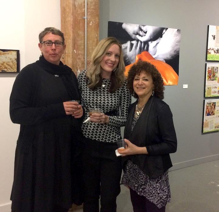 lynn mowson, L.A. Watson, and Nava Atlas at the SPOM exhibit