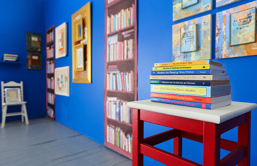 Narcissist's Library by Nava Atlas installation view