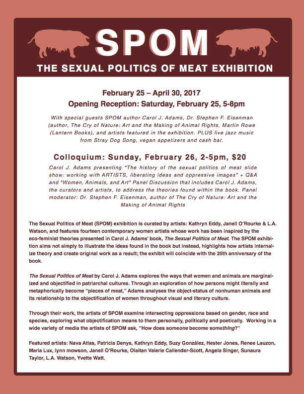 Sexual Politics of Meat flyer - Animal Museum 2017