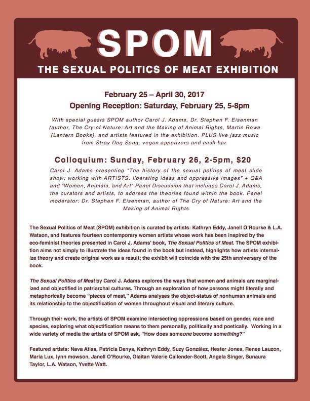 Sexual Politics of Meat flyer - Animal Museum 2017