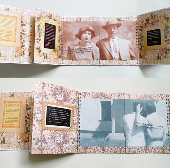 Why You Can't Get Married: An Unwedding Album by Nava Atlas; interior details