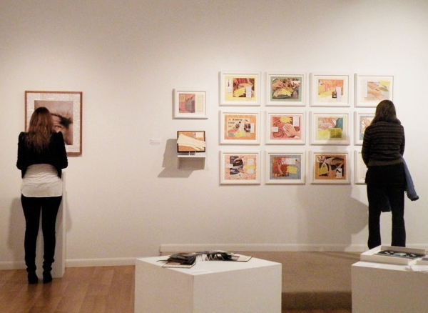 "Installation view, ""In Retrospect,"" SUNY-Ulster"